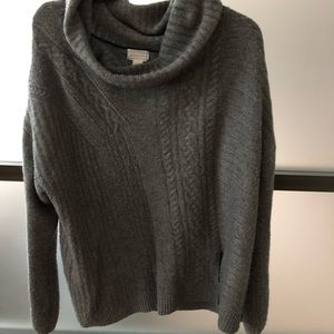 Soft grey cowl neck sweater
